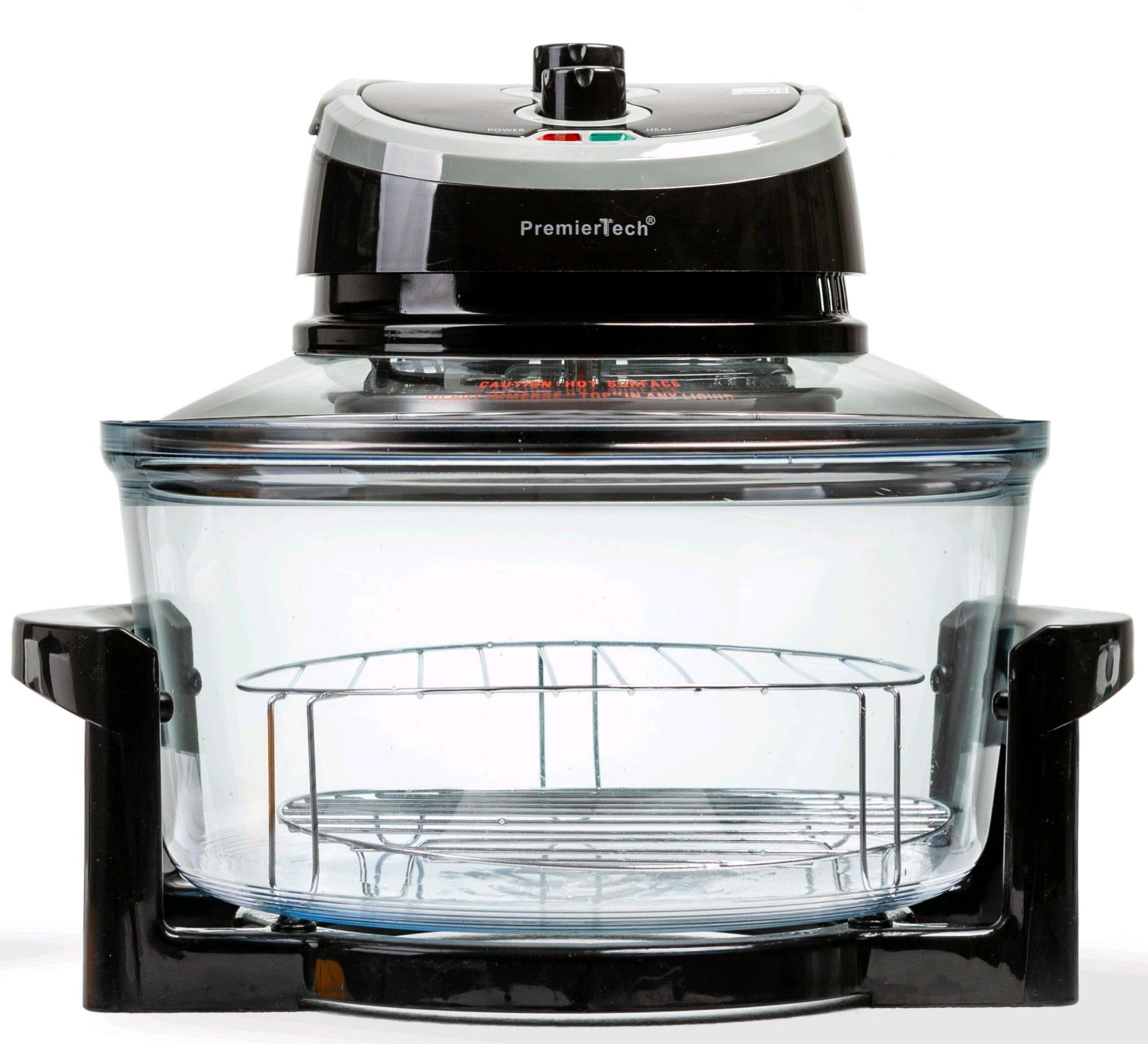 PremierTech PT-FA12B Forno Alogeno ad Aria Ventilato 17 litri 1400 watt cuoce senza olio (nero)