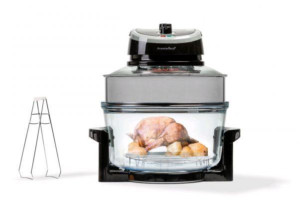 PremierTech® PremierTech PT-FA12B Forno Alogeno ad Aria Ventilato 17 litri 1400 watt cuoce senza olio (nero)