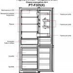 PremierTech PT-F305X Frigorifero Combinato 305 litri A++ 40dB Defrost Inox 344144