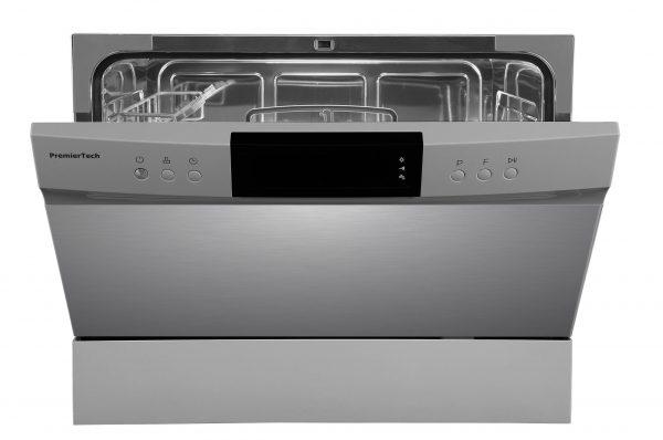 PremierTech PTLS6S Silver Lavastoviglie 6 coperti 8 programmi libera installazione