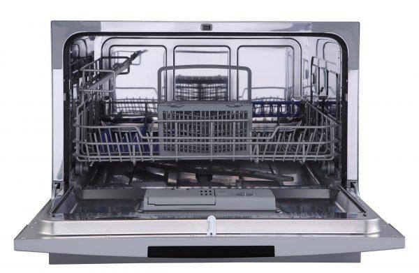 PremierTech® PremierTech PTLS6S Silver Lavastoviglie 6 coperti 8 programmi libera installazione