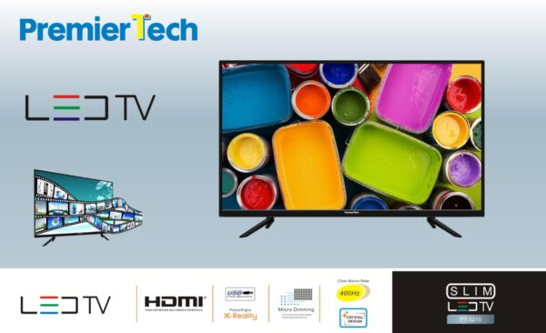 "PremierTech® PT-3210 Tv 32"" pollici Led HD 16:9 DVB-T2 USB 3 HDMI Funzione Hotel  PremierTech"