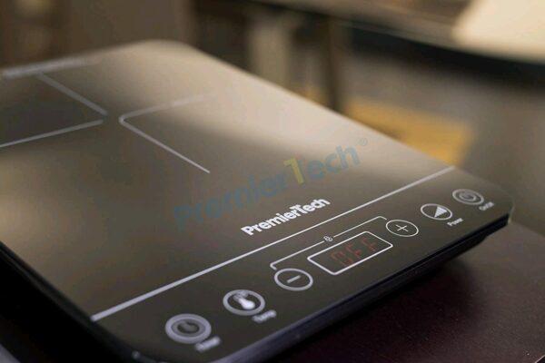 PT-PI1 Piastra a Induzione portatile Fornello induzione Controlli Touch Display led 10 livelli di potenza 200>2000watt Timer 180min 4cm spessore PremierTech
