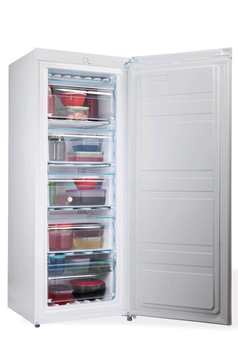 PremierTech PT-FR153 Congelatore Verticale Freezer 153 litri -24°gradi A++ 4**** Stelle 3 Cassetti e 2 Sportelli