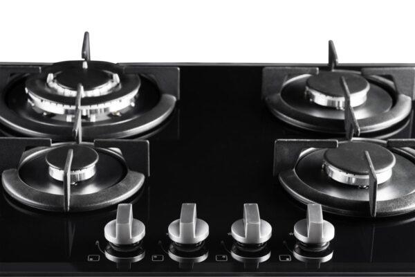 PremierTech PC4G60V Piano cottura a gas 4 fuochi 60cm Vetro