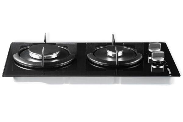 PremierTech® PremierTech PC2G30V Piano cottura a gas 2 fuochi 30cm Vetro